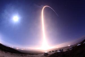 l lancio ripreso a lunga esposizione