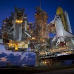 Space Shuttle Discovery sulla rampa di lancio