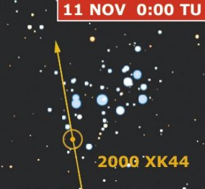 Mappa asteroide 2000 XK44