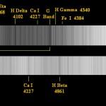Fig.10 - Spettro della Luna / Sole ottenuto a Libbiano il 27 Ottobre 2007