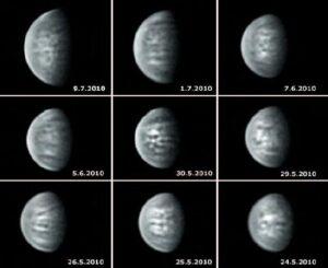 Le migliori immagini della passata elongazione venusiana in infrarosso.
