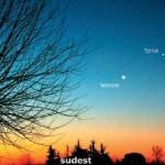 Congiunzione Venere Luna con la presenza anche di Spica