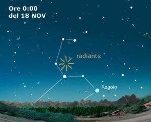 Mappa Leonidi 2010 - Copyright Coelum Astronomia