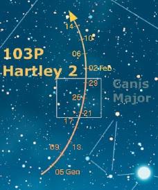 Cometa Hartley - Gennaio 2011