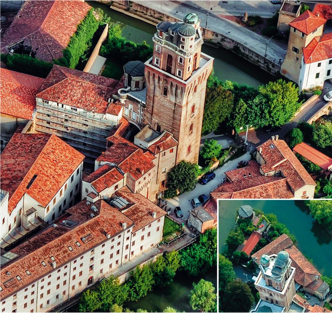 L'Oosservatorio di Padova fotografato dall'aereo