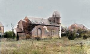 L'osservatorio privato di Lescarbault come appariva in una rara fotografia del 1863. La cupola era costruita sull'abitazione ed ospitava un rifrattore da 95 mm di diametro.