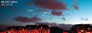 Congiunzione Venere, Marte e Mercurio