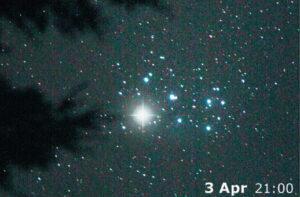 Congiunzione Venere Pleiadi