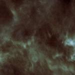Una stella che nasce tra nubi d'acqua