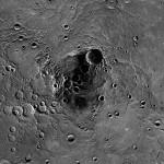 Dalla MESSENGER nuove immagini del Polo Nord di Mercurio