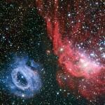 Due-nubi-di-gas-veramente-diverse-brillano-nella-Grande-Nube-di-Magellano