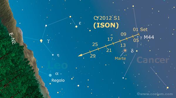 comete cartina ISON