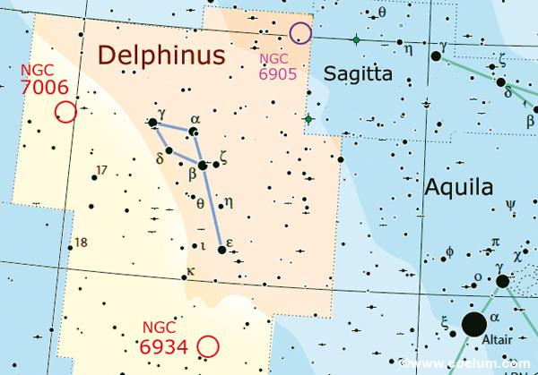 nel cielo cartina delfino