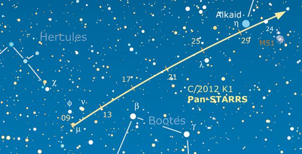 Comete k1 Panstarrs