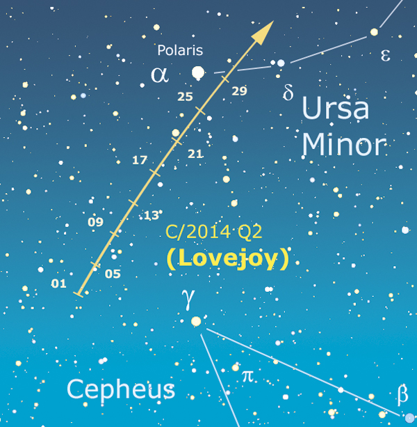 comete mappa lovejoy