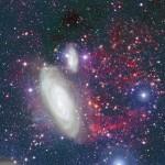 La spettacolare coda di gas di Messier 90