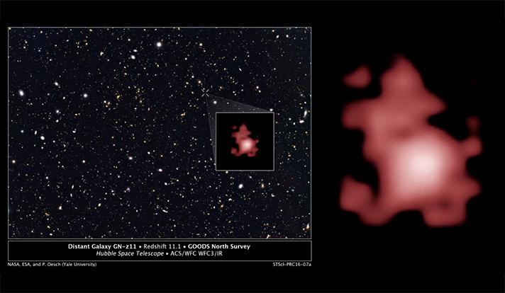 Hubble oltre ogni limite, nella galassia più distante del cosmo