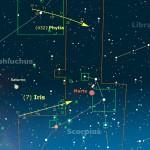 Asteroidi - Laggiù tra Ofiuco e Scorpione Iris non al meglio, ma Pythia super