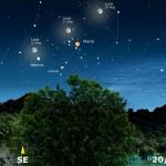 La Luna a passeggio nello Scorpione, tra Marte in opposizione e Saturno