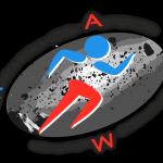logo maratona asteroidi bianco