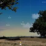 Congiunzione Venere, Giove e Mercurio