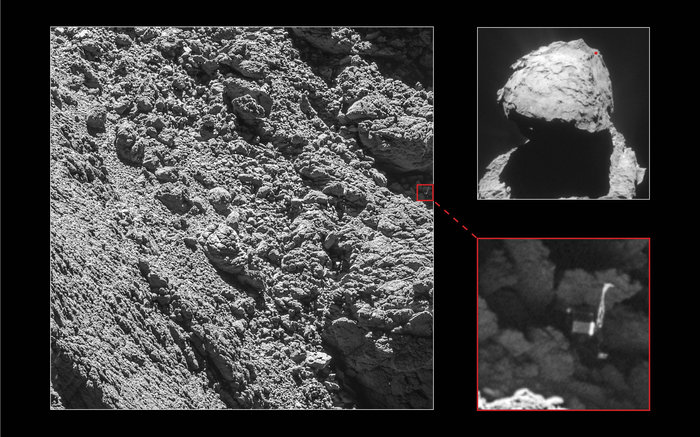 Spazio: Rosetta ha fotografato Sonda Philae su superficie Cometa