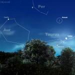 Le Pleiadi alla luce della Luna