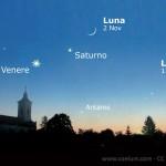 Congiunzione Venere Saturno... con e senza Luna!