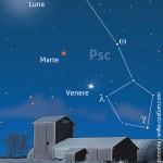Allineamento Luna, Marte e Venere