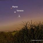 Allineamento Marte, Venere e lambda Aquari