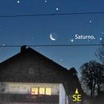 Congiunzione Luna e Saturno