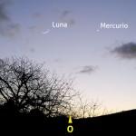 Congiunzione Luna e Mercurio