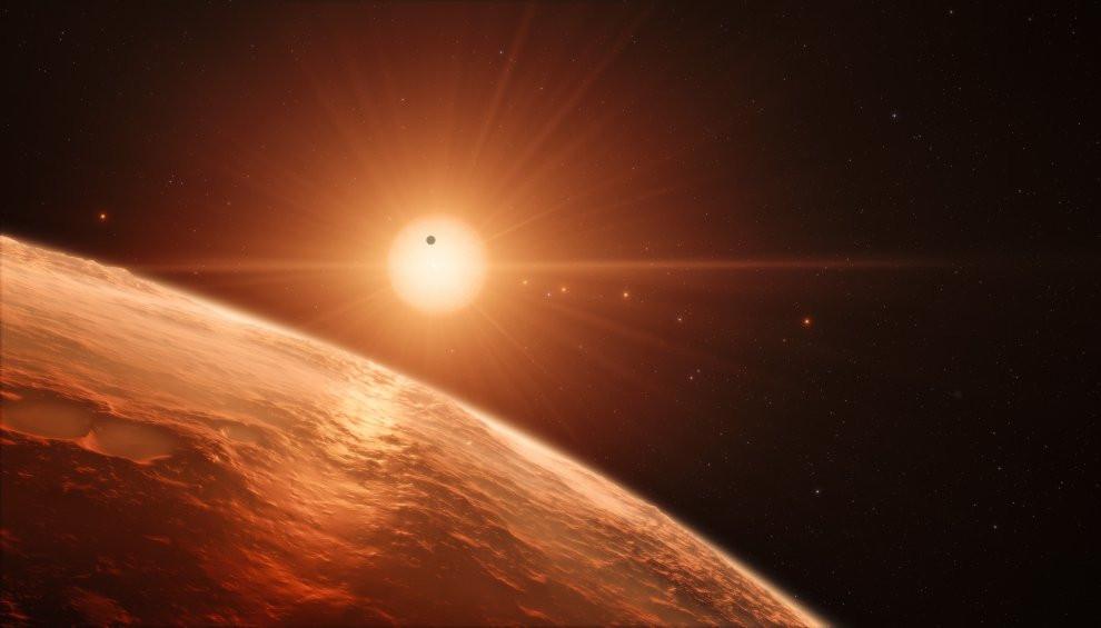 Una rappresentazione artistica della stella TRAPPIST-1