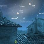 Due giorni con Luna e Saturno, tra Ofiuco e lo Scorpione