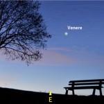 La stella del mattino incontra una falce di Luna calante