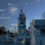 Una notte con Luna e Saturno