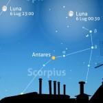 Due notti con Luna e Saturno tra Ofiuco e lo Scorpione