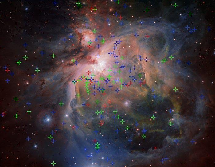nebulosa di Orione e diverse popolazioni stellari VLT Survey Telescope (VST)