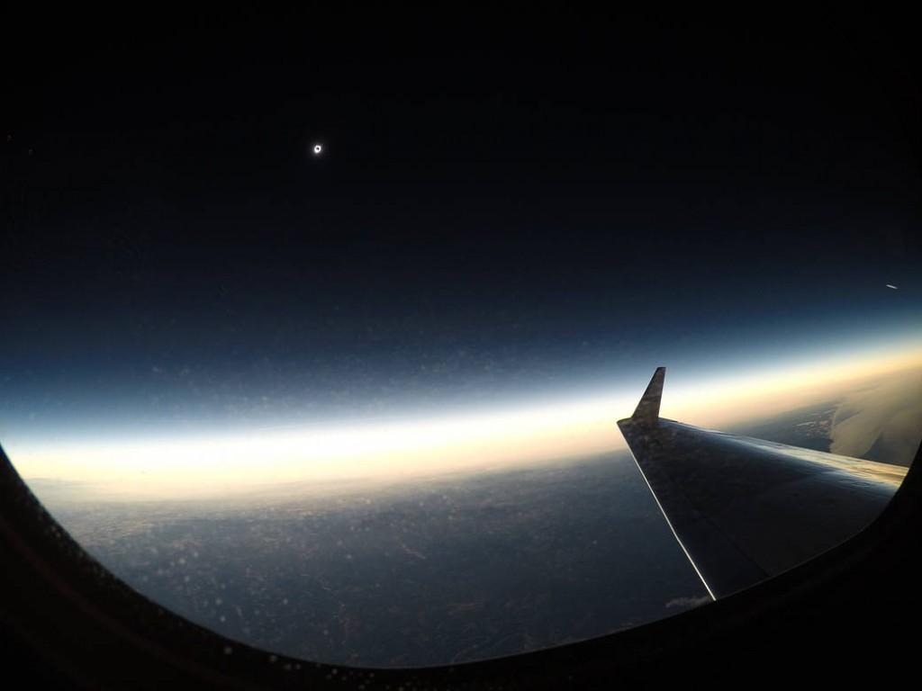 Eclissi di Sole 2017 ripresa dal GIII della NASA