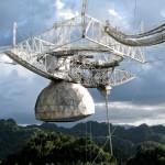 Il radioelescopio di Arecibo danneggiato da Maria
