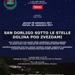 Locandina_San Dorligo sotto le stelle-Dolina pod zvezdami