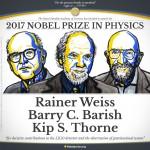 I tre vincitori del Premio Nobel per la Fisica 2017