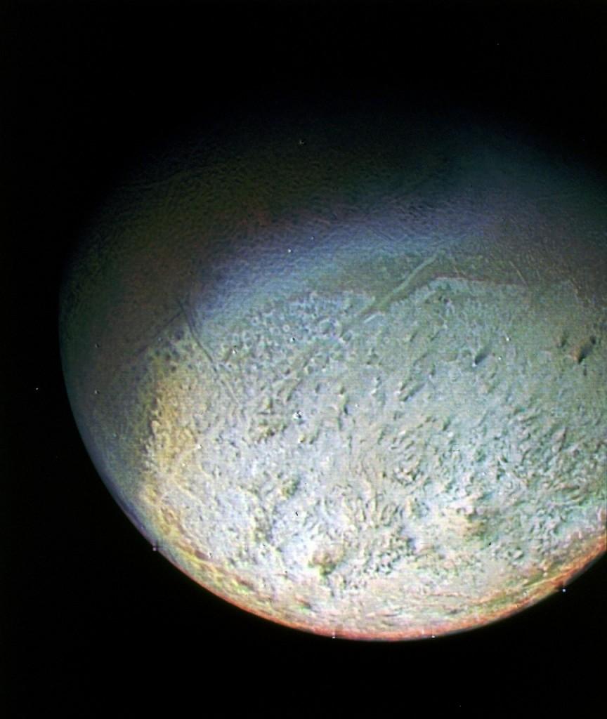 Tritone visto dalla sonda Voyager 2