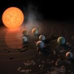I pianeti di Trappist-1: leggeri e pieni di acqua