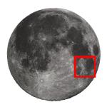 Luna di Giugno 2018 e una guida all'osservazione dal cratere Gutenberg al cratere Santbech