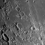 Luna in fase di 9/10 giorni. Osserviamo  la Palus Epidemiarum