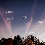 Tre serate con Luna, Venere e Giove