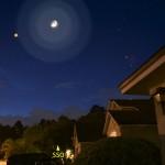 Una serata con Luna e Marte