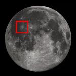 La Luna di Ottobre e una guida all'osservazione del cratere Kepler