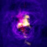 Una fontana galattica per ALMA e MUSE